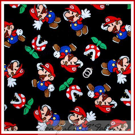 Boneful Fabric Fq Flannel Super Hero Mario Brothers