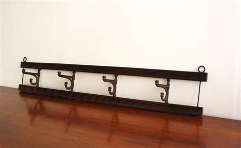 antique large wall mounted wood coat rack