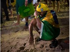 Sad Images from Brazil Burning of the National Flag