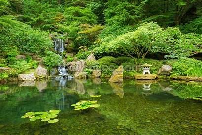 Garden Japanese Murals Mural Landscape Gardens Landscapes
