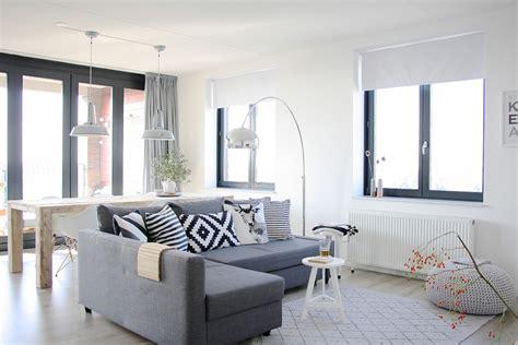 grey sectional sofa living room contemporary  black