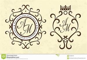 Vector Luxury Elegant Monogram Logo Template Set Stock ...
