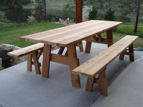 kitchen picnic table plans furniture enjoy your backyard with picnic tables