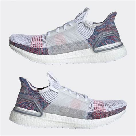 adidas ultra boost  mens shoes white multicolor pv