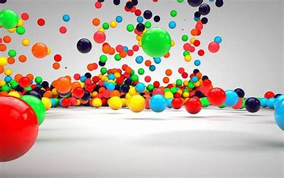 3d Colorful Wallpapers Balls Colorfull Colourful Windows