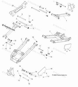 Polaris Side By Side 2013 Oem Parts Diagram For Suspension  Rear Control Arms