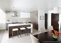 modern kitchen backsplash White Glass Subway Backsplash Tile