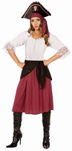 Damen Kostüm Piratin : piratin kost m piratenkost m damen kost m bordeaux wei piraten hut kost me ~ Frokenaadalensverden.com Haus und Dekorationen