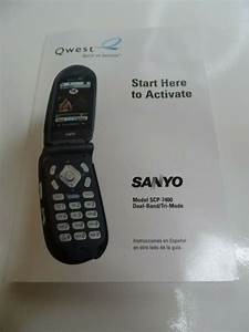 Sanyo Flip Cell Mobile Phone Activation Guide Manual Scp