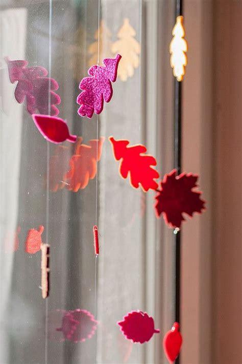 Fenster Blätter by Herbst Deko Fenster Bl 228 Tter Stanze Filz Autumn