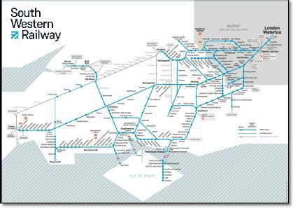 Map of South Western Railway Route