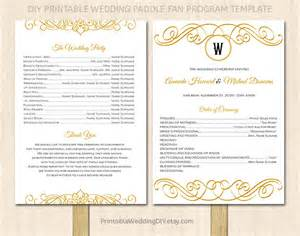 simple wedding programs templates printable wedding program fan by yourweddingtemplates on etsy