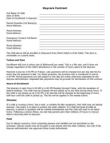 sample rental agreement letter 32 sample contract templates in microsoft word