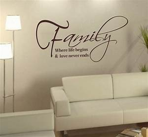 Family life love art words stickers diy home say quote