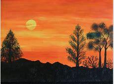 Acrylics on Canvas Landscape painting – Memoir's Galore