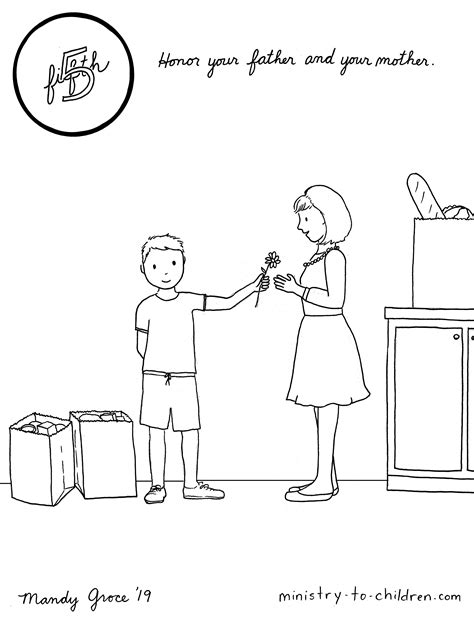 5 Mother's Day Coloring Pages [Easy Print] Ministry-To-Children