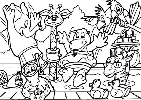 Detailed Animal Coloring Pages