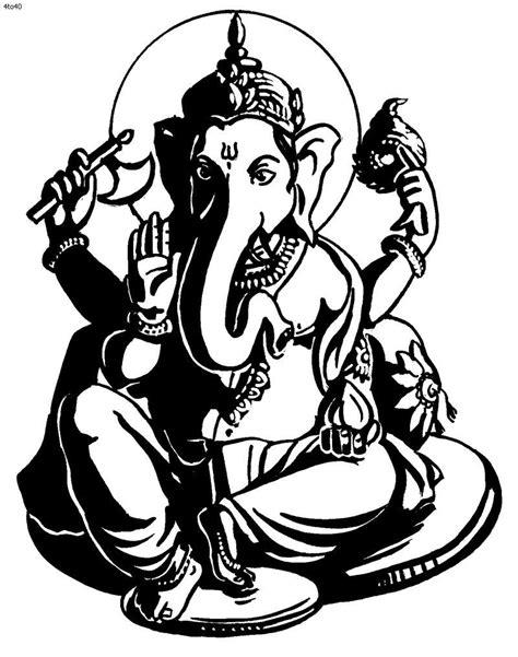 Happy Ganesh in 2019 | Black, white painting, Ganesha drawing, Ganesha