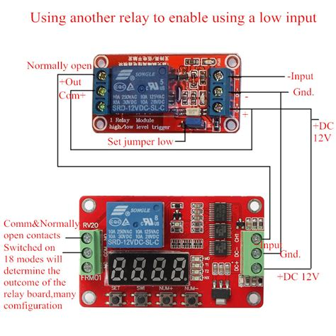 12v dc multifunction self lock relay plc cycle timer