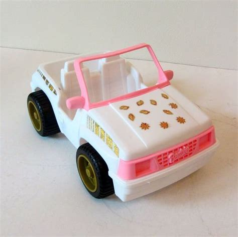 pink convertible jeep vintage 1994 barbie white pink convertible jeep car
