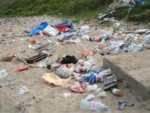 Litter On Beaches