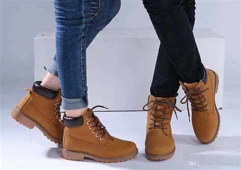 Boots Casual Men Women Winter Leather
