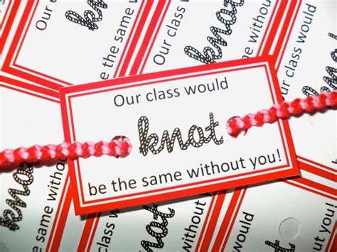 10 Red Bracelet Tags  Our Class Would Knot Be The Same