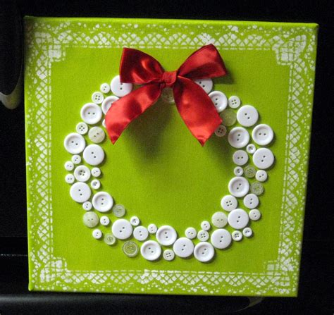 christmas craft ideas button wreath