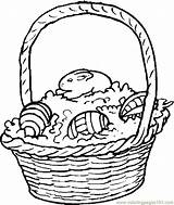 Easter Basket Coloring Pages Baskets Holidays Printable Coloringpages101 Clipart Books Comments sketch template