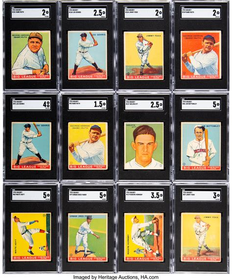 The search results will show cards that have recently sold (hopefully just like yours). 1933 Goudey Baseball Near Set (238/239).... Baseball Cards ...