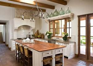 reclaimed wood countertops mediterranean kitchen With what kind of paint to use on kitchen cabinets for large southwestern wall art