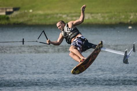 Air Chair Hydrofoil by Ivp Wakeboarding Andy Huang Of Nus Rips Through