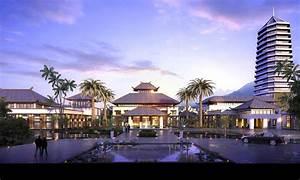 3d, Model, Modern, Luxury, Hotel, Building, 004