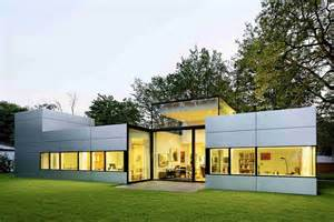 contemporary house plans single story modern single story cubical house with a metal facade in cologne freshome