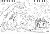 Tsunami Sketch Template Coloring Pages sketch template