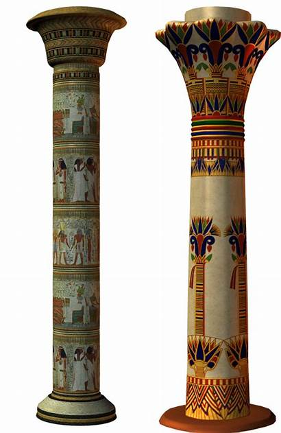 Egypt Column Columns Egyptian Ancient Egypte Transparent