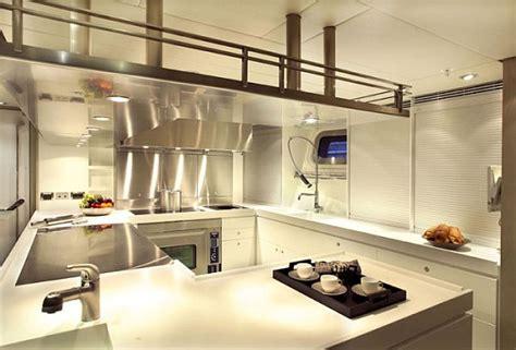 yacht kitchen design the a luxury yacht interior design 1201