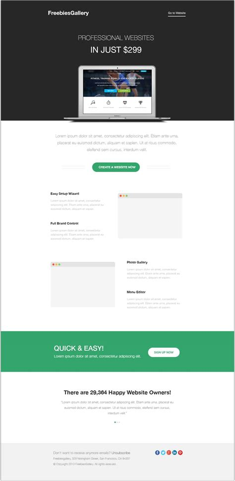 email templates free email newsletter templates psd 187 css author