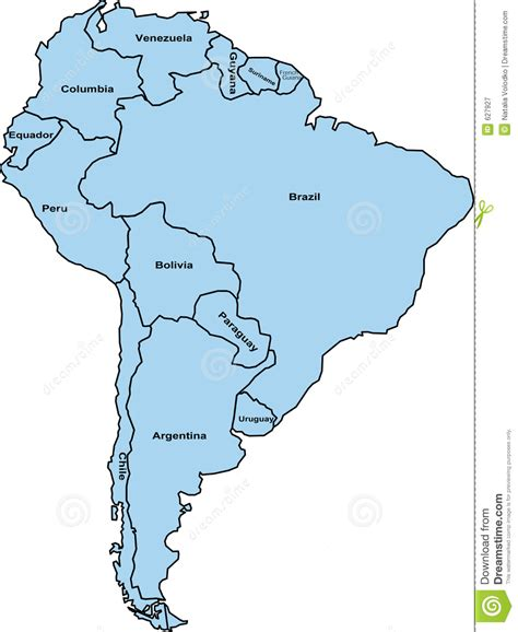 black and white south six south america map royalty free stock photography image