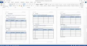 Availability plan template technical writing tips for Technical data package template