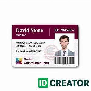 customizable employee id card same day shipping With staff id badge template