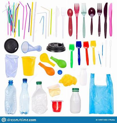 Objects Plastic Single Disposable Drinking Isolated Straws