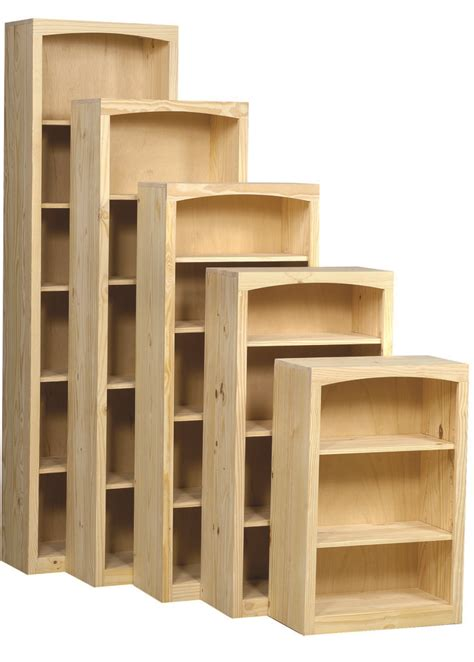 Unfinished Bookcase by Pine Bookcase 24 Quot X 72 Quot W Door Kit Unfinished Furniture
