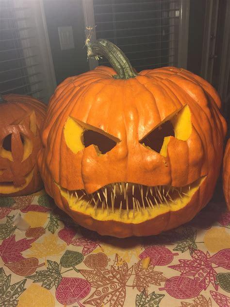Easy Pumpkin Carving Idea With Toothpicks Creative