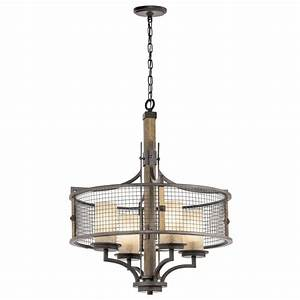 Rustic style hanging ceiling pendant light iron mesh and