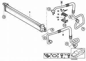 Original Parts For E65 745i N62 Sedan    Radiator   Engine Oil Cooler Oil Cooler Line