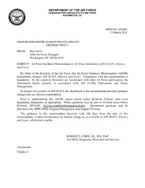 air mfr template official memo fill printable fillable blank pdffiller