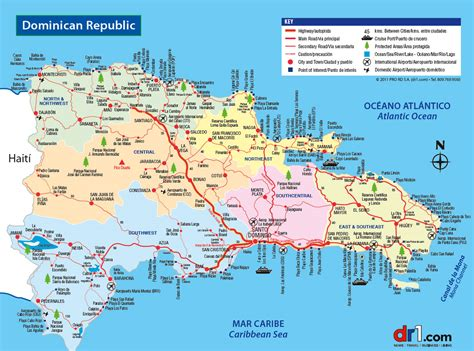 dominican republic map  airports