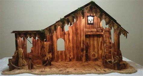 christmas mangers for sale nativity manger stable lighted handmade wooden on sale