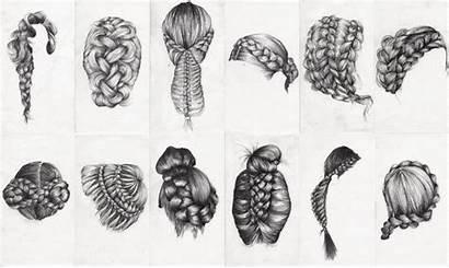 Braid Drawing Sketch Hairstyle Braids Draw Hair